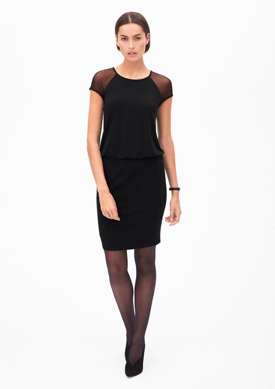 Короткое платье со вставкой кружева
