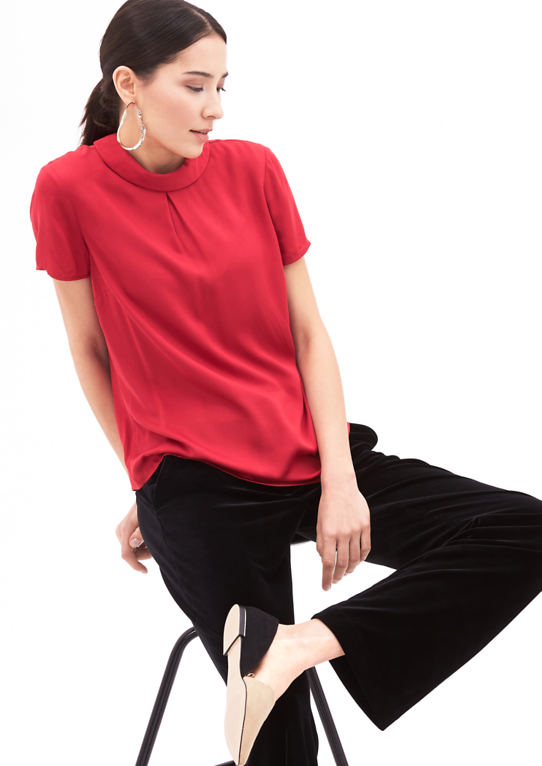 Блузка с коротким рукавом Turtleneck