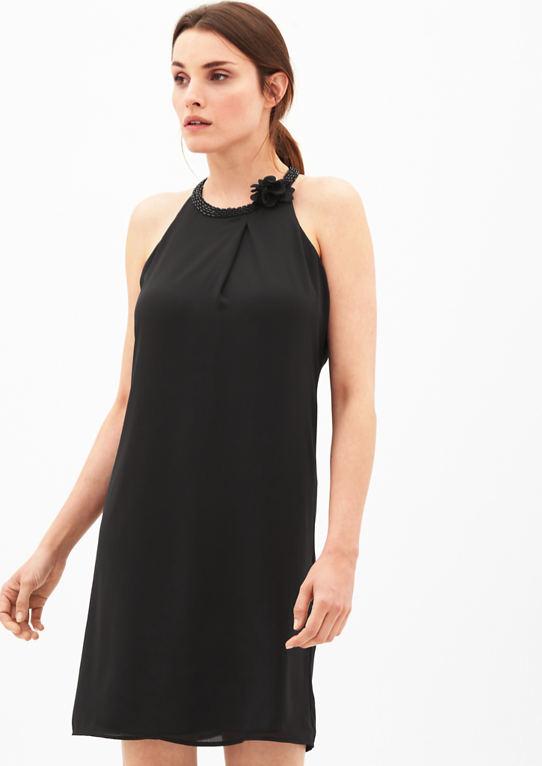 Шифоновое платье с воротник Ювелирные изделия