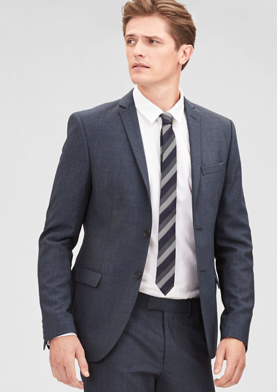 Slim: пиджак из шерсти шерстяные-Mix