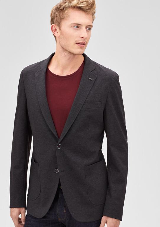 Modern Fit: пиджак из плосковязальные