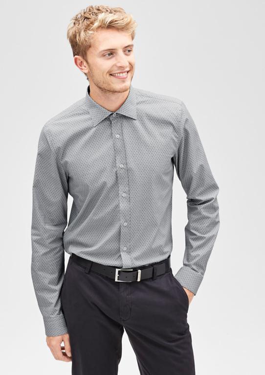 Slim: Узорчатый Стрейч Рубашка