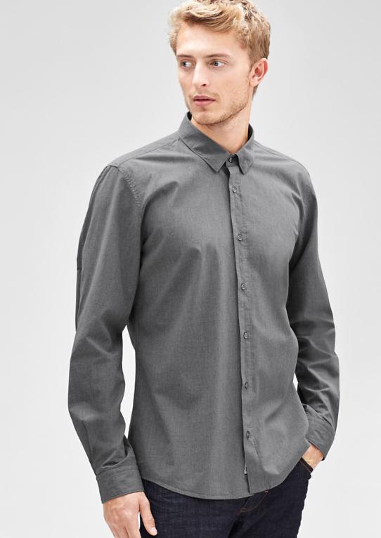 Modern Fit: рубашка в меланж оптики