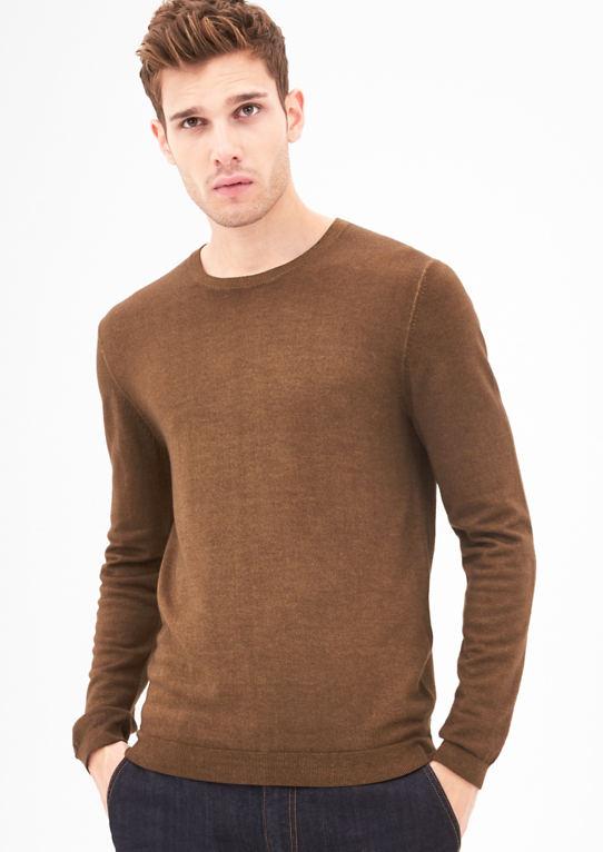 Помытый свитер из мериносовой шерсти