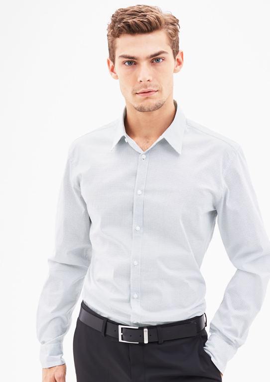 Slim: Мелко узорчатый рубашка