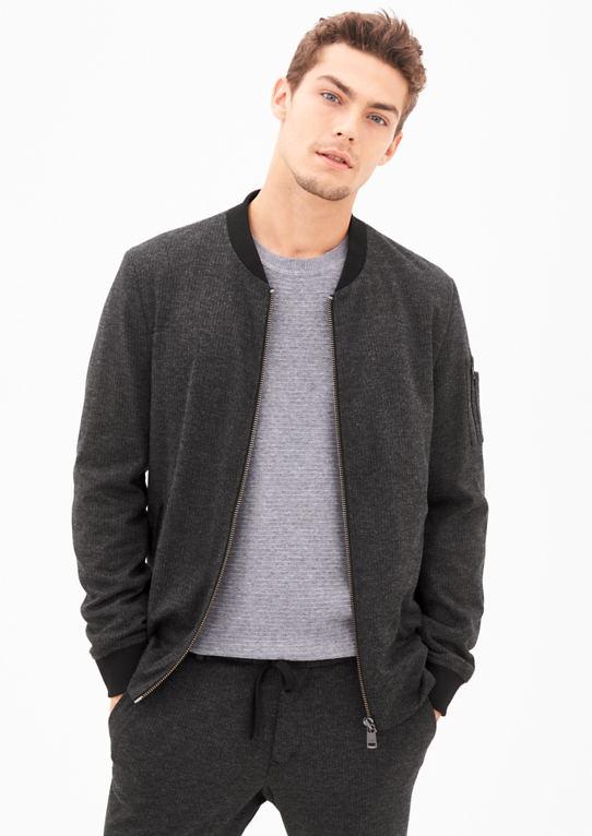Элегантная куртка в блузон стиле