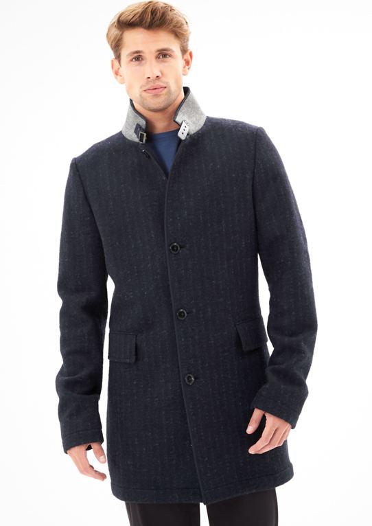Ungefütterter шерстяное пальто из Интерлок