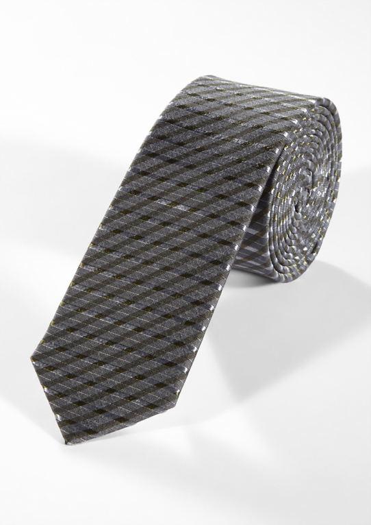 Шелковый галстук в контрастный дизайн
