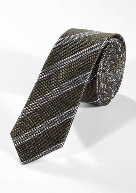 Шелковый галстук с полосками