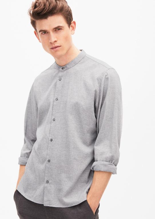 Modern Fit: фланель рубашка со стоячим воротником