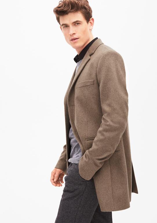 Slim Fit: Шикарное Шерстяное Пальто
