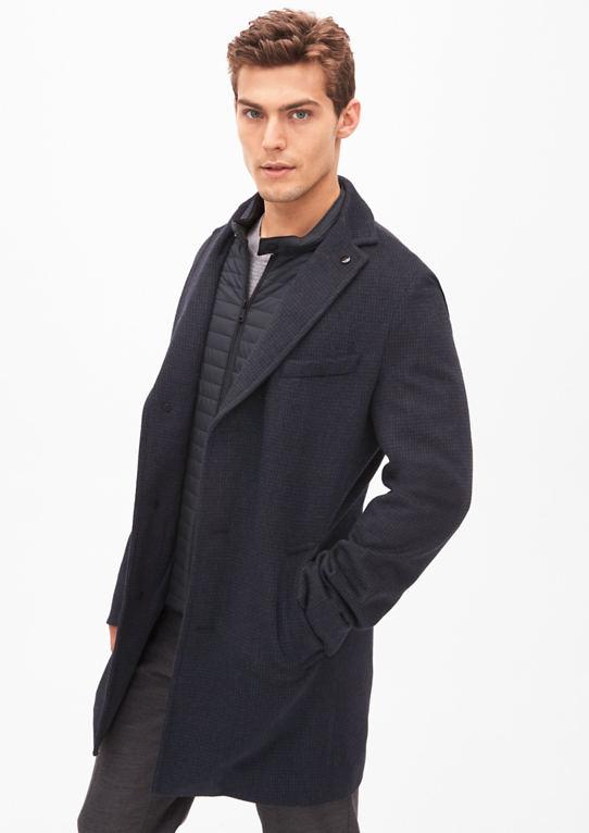 Slim: Шерстяное Пальто С Узорами