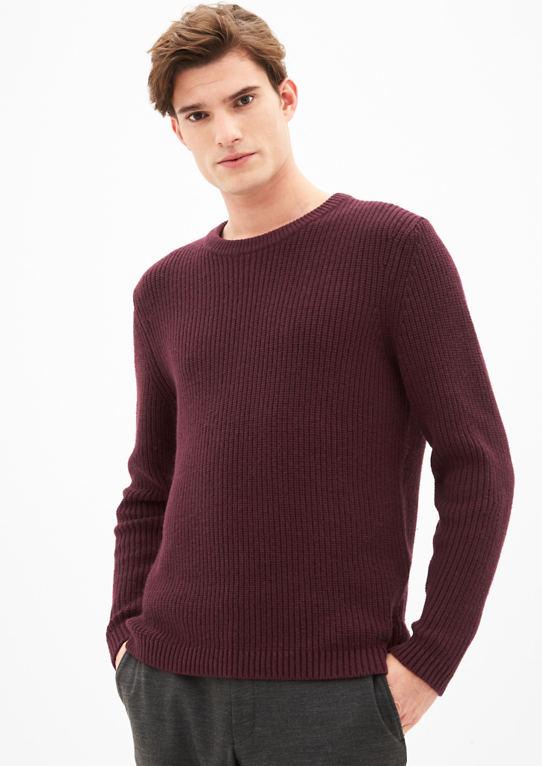 Грубая вязка свитера из Wollmix