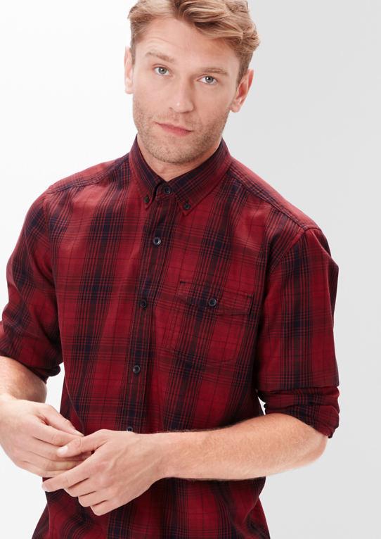 Regular: Большой клетчатая рубашка с длинным рукавом