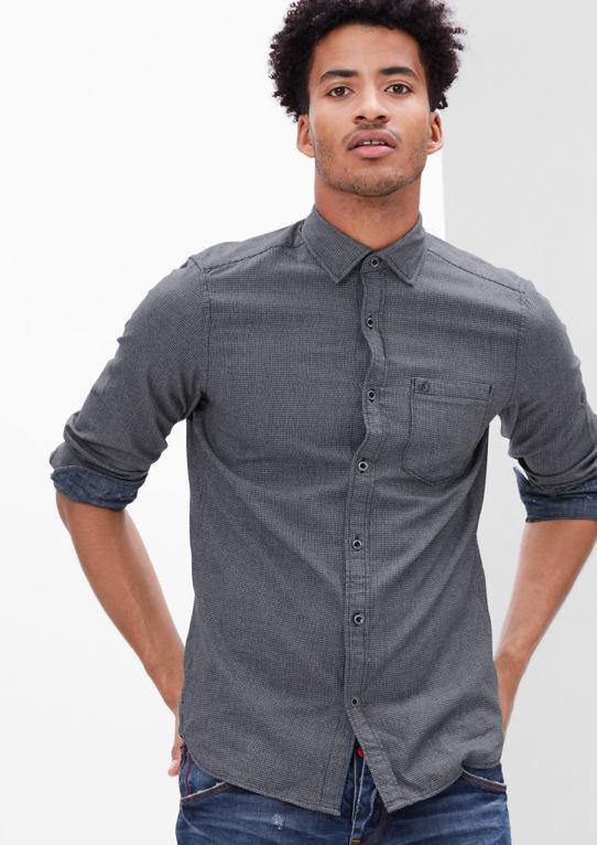 Slim: рубашка со структурным узором