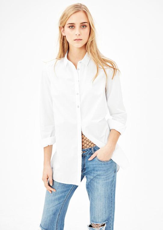 Простая блузка из хлопка