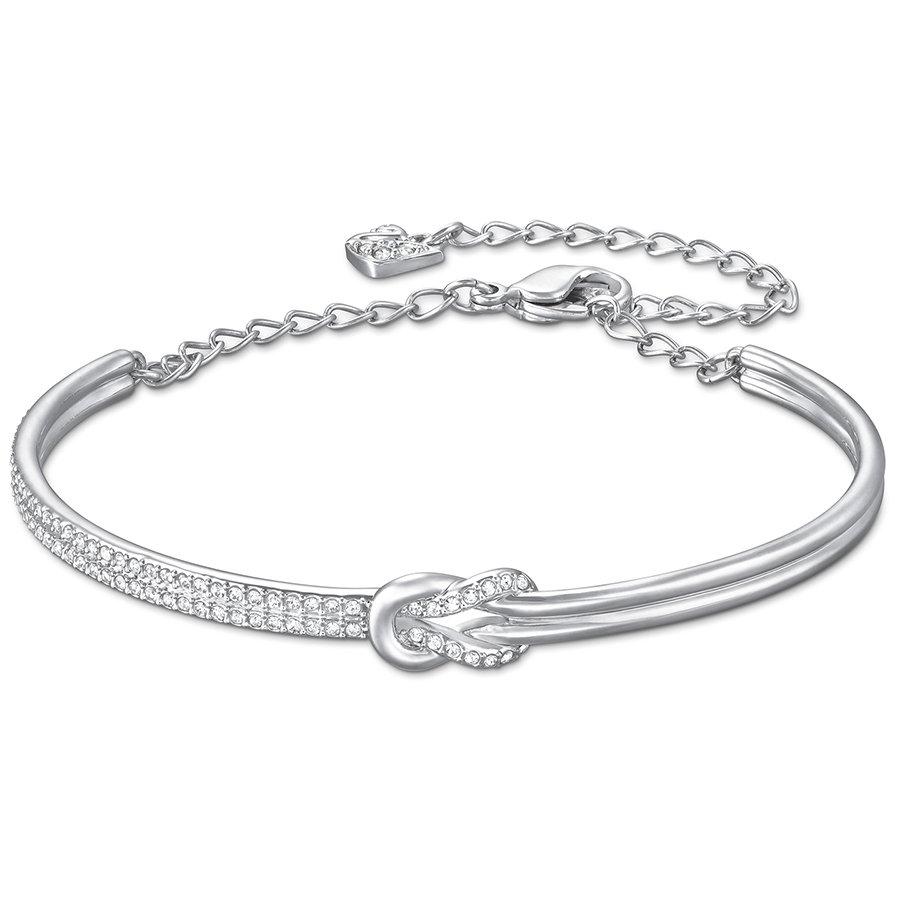 Маркизет браслет, белый, родиевое покрытие