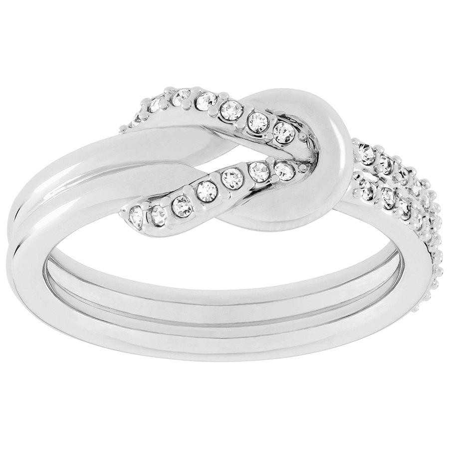 Voile кольцо, белый, родиевое покрытие