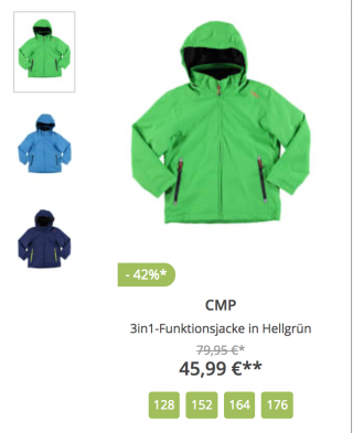 BOOHOO 3in1-Funktionsjacke in Hellgrün CMP 45,99 €**